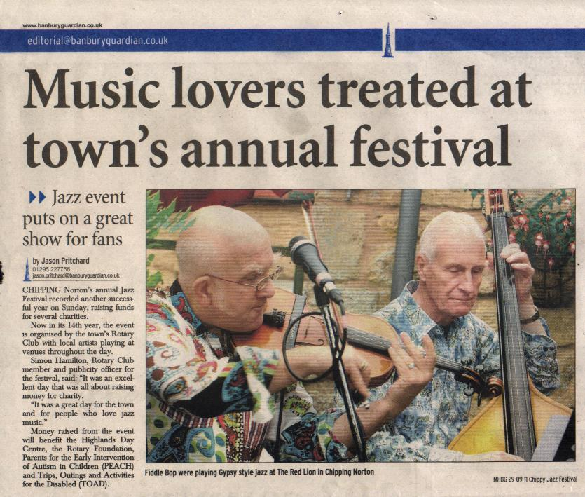 Banbury Guardian, 29 September 2011