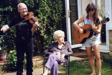 The early days: Jo and Dave, playing for Jo's Nana