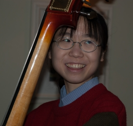 Esther Ng, our guest double bass player