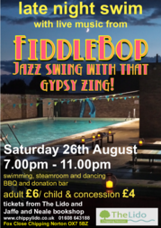 FiddleBop at Chippy Lido, 26 August 2016