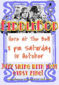 FiddleBop at The Bell Inn, Moreton-in-Marsh, 15 October 2016