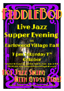 FiddleBop at Earlswood Live Jazz Supper Evening, 7 October 2017