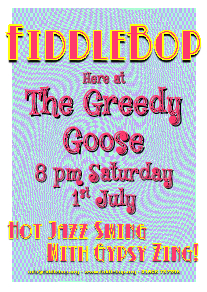 FiddleBop at The Greedy Goose, 1 July 2017