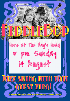FiddleBop at The Nag's Head, 14 August 2016