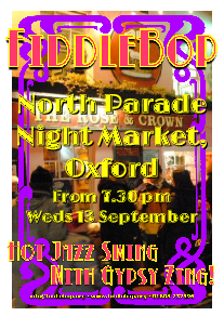 FiddleBop at North Parade Night Market, Oxford, 13 September 2017