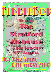 FiddleBop at The Stratford Alehouse, 13 August 2017