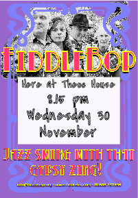 FiddleBop at Theoc House, 30 November 2016