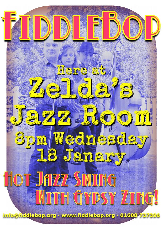 FiddleBop at Zelda's Jazz Room, Wantage, 18 January 2017
