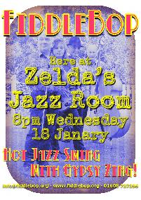 FiddleBop at Zelda's Jazz Room, 18 January 2017