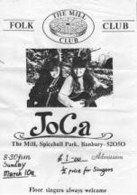 A poster for the duo JoCa. Jo is on the left