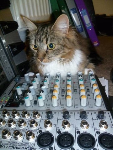 Kizzy with mixer :-)