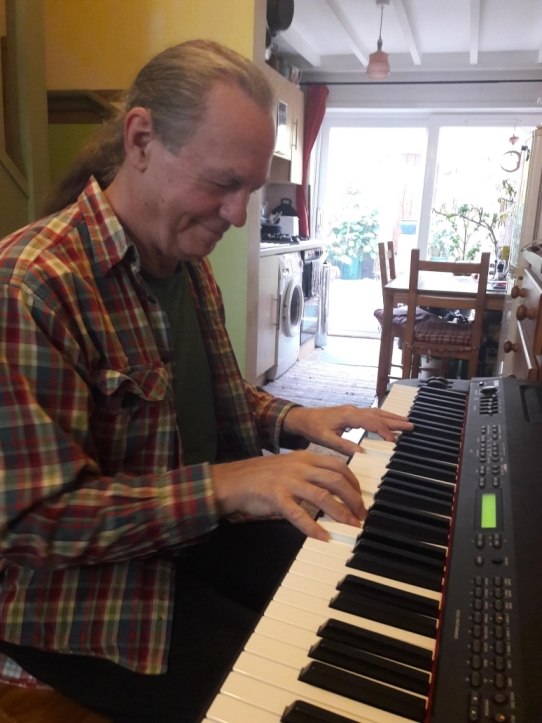 Paul Stevens, FiddleBop's keyboard wiz. Photo: Jo Davies