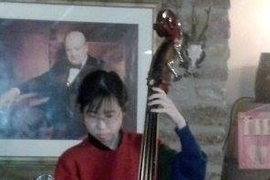 Esther Ng on double bass