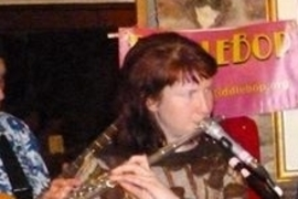 Hannah Porter, guest flute player with FiddleBop