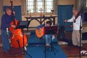 A chilly 2006 recording session in St Andrew's church, Great Rollright